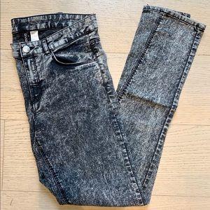 H&M Black Acid Wash Skinny Jean